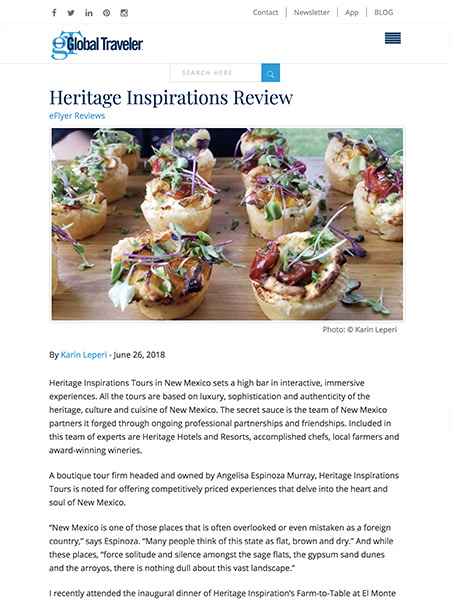 Heritage Inspirations Review | globaltravelerusa.com June 2018