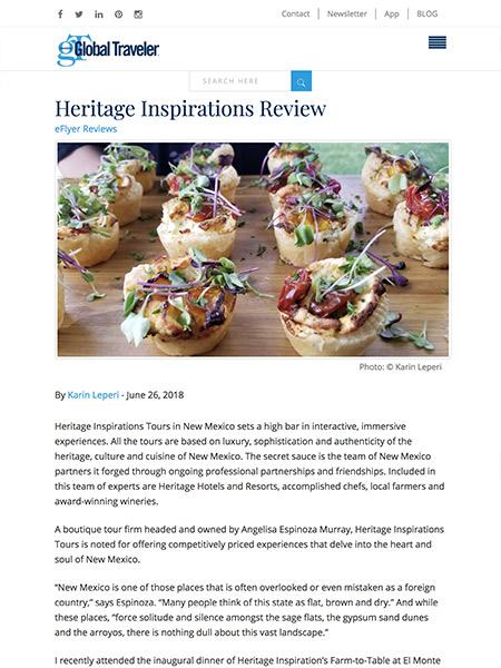 Heritage Inspirations Review | globaltravelerusa.com June 2018