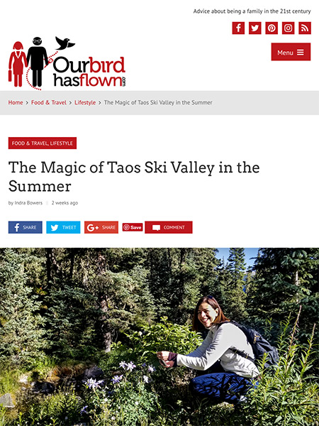 The Magic of Taos Ski Valley in the Summer | ourbirdhasflown.com July 2018