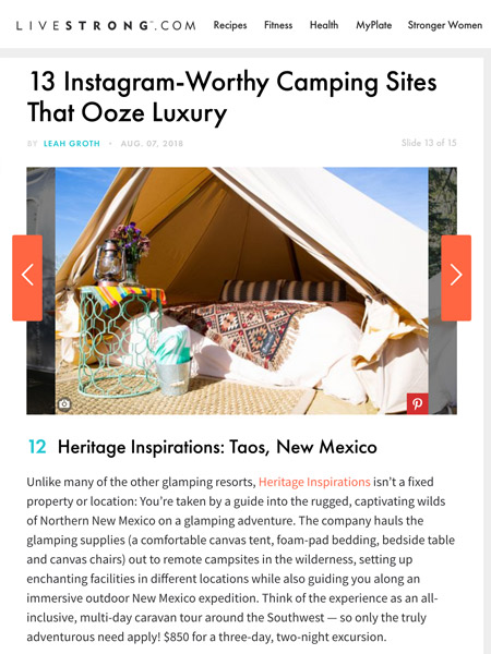 13 Instagram-Worthy Camping Sites That Ooze Luxury | livestrong.com August 2018
