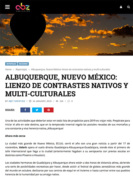 Albuquerque, Nuevo México: lienzo de contrastes nativos y multi-culturales | abzturistico.com January 2019