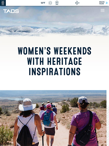 Women's Weekends with Heritage Inspirations | skitaos.com June 2019