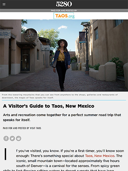 A Visitor's Guide to Taos, New Mexico | taos.org June 2019