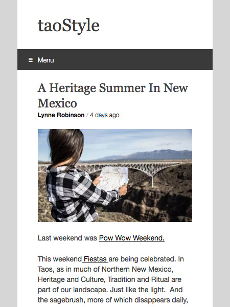 A Heritage Summer In New Mexico | taostyle.net July 2019