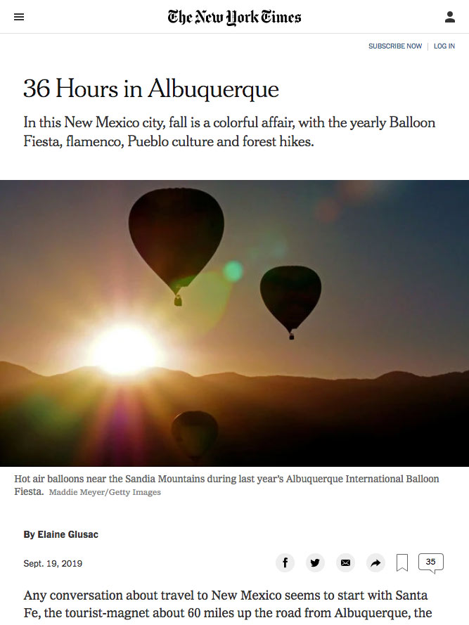 36 Hours in Albuquerque | nytimes.com September 2019
