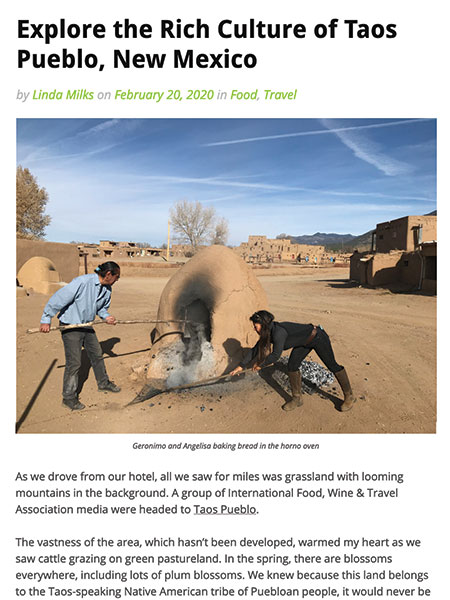 Explore the Rich Culture of Taos Pueblo, New Mexico | toastingfoodwinetravel.com February 2020