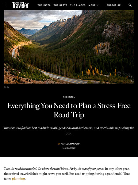 Everything You Need to Plan a Stress-Free Road Trip | cntraveler.com June 2020