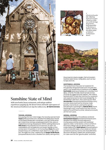 Sunshine State of Mind | Travel + Leisure Magazine December 2020