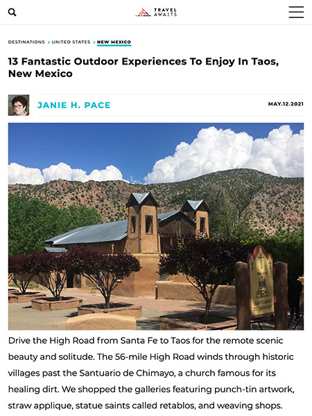 13 Fantastic Outdoor Experiences To Enjoy In Taos, New Mexico | TravelAwaits.com May 2021